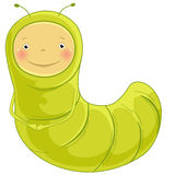Inchworm cartoon character Stock Images