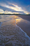 Inchydoney Beach. Setting sun lights beach at Inchydoney, West Cork, Ireland Royalty Free Stock Photos