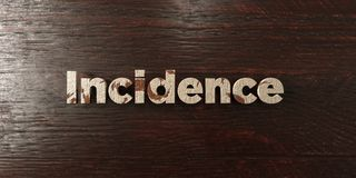 Incidence - grungy wooden headline on Maple  - 3D rendered royalty free stock image Stock Photo