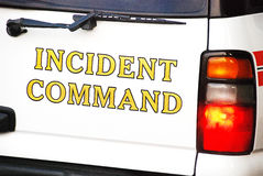 Incident Command. Vehicle at a emergency scene Royalty Free Stock Photography