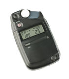 Incident exposure light meter isolated on the white background Stock Photo