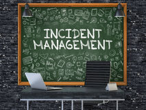 Incident Management - Hand Drawn on Green Chalkboard. Stock Image