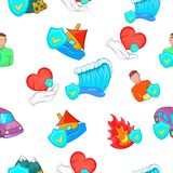 Incident pattern, cartoon style Royalty Free Stock Images