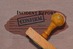 Incident report form royalty free stock images