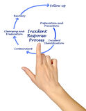 Incident Response Process. Diagram of Incident Response Process Royalty Free Stock Images