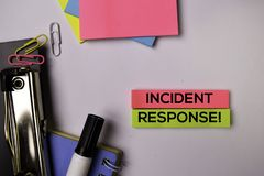 Incident Response! on sticky notes isolated on white background stock photo