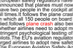 Incidente aereo Fotografie Stock