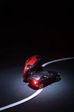 Incidente con due automobili del giocattolo Immagini Stock Libere da Diritti