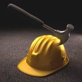 Incidente del casco Fotografie Stock Libere da Diritti