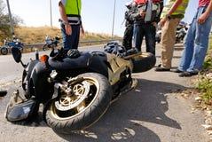 Incidente del motociclo Fotografia Stock Libera da Diritti