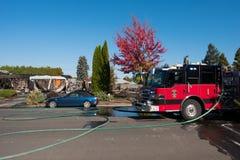 Incidente del pistolero del incendio provocado en Springfield Oregon el 27 de octubre fotos de archivo