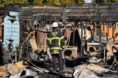 Incidente del pistolero del incendio provocado en Springfield Oregon el 27 de octubre imagen de archivo libre de regalías
