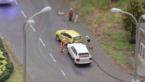 Incidente del transporte por carretera Coches del desplome almacen de video
