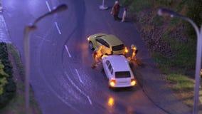 Incidente del trasporto stradale Automobili di arresto video d archivio