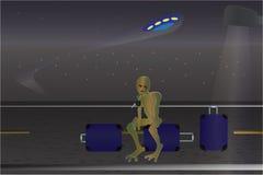 Incidente del UFO Cartel de la historieta Imagenes de archivo