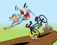 Incidente della bici Immagini Stock