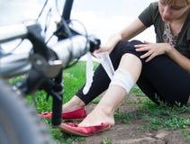 Incidente della bicicletta Immagine Stock Libera da Diritti