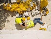 Incidente della costruzione Immagine Stock