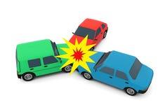 Incidente di automobili Fotografie Stock Libere da Diritti
