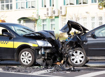Incidente di automobili Fotografie Stock