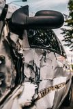 Incidente di incidente stradale nocivo Fondo fotografia stock