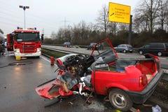 Incidente di traffico dell'automobile Fotografia Stock Libera da Diritti