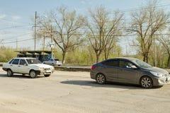 Incidente di traffico non grave della strada Immagini Stock