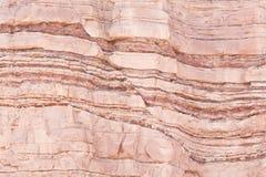 Incidente en la deformación de los estratos de la piedra arenisca Imagen de archivo libre de regalías