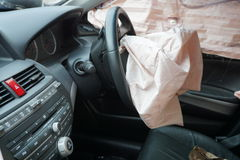 Incidente stradale, concetto di assicurazione Fotografie Stock