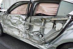 Incidente stradale, concetto di assicurazione fotografie stock libere da diritti