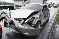 Incidente stradale, concetto di assicurazione Fotografia Stock Libera da Diritti