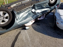 Incidente stradale dell'automobile, collisione, assicurazione Fotografie Stock Libere da Diritti