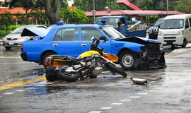 Incidente stradale interno Fotografia Stock Libera da Diritti
