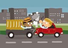Incidente stradale nella città Fotografie Stock Libere da Diritti