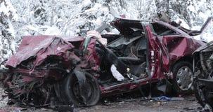 Incidente stradale principale video d archivio