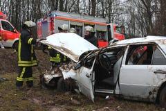 Incidente stradale serio Immagini Stock Libere da Diritti