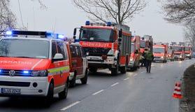 Incidente stradale serio Fotografia Stock