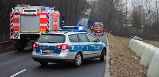 Incidente stradale serio Fotografia Stock Libera da Diritti