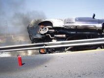 Incidente stradale sulla strada principale Fotografie Stock