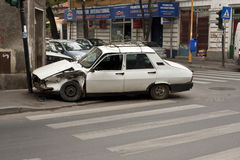 Incidente stradale sulla zebra Fotografie Stock Libere da Diritti
