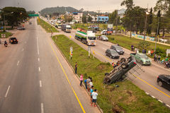 Incidente stradale in Tailandia Immagini Stock