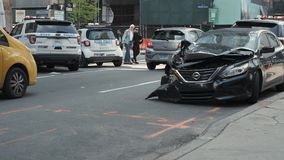 Incidente stradale Wall Street New York video d archivio