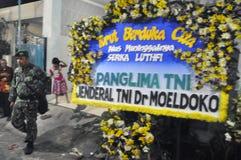 Incidenti aerei militari in Indonesia che uccide 135 Fotografie Stock Libere da Diritti