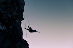 Incidenti rampicanti di alpinismo Immagine Stock