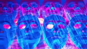 Incidents de Cyber dans des affaires globales, concept de pirate informatique de robot d'ordinateur illustration libre de droits