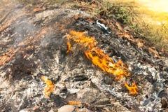 Incinerador do fogo Imagens de Stock Royalty Free