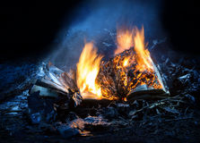 Combustion book on pyre of brushwood Stock Photography