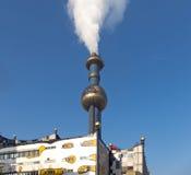 Incineration designed by Hundertwasser Royalty Free Stock Image