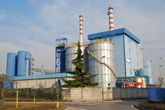 Incineration plant. In Lombardy - Italy Royalty Free Stock Image