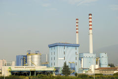 Incineration plant Royalty Free Stock Images
